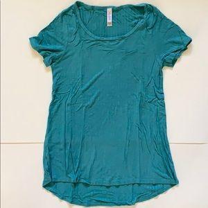 XS/S Ribbed Teal LuLaRoe Classic T